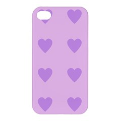 Violet Heart Apple Iphone 4/4s Hardshell Case