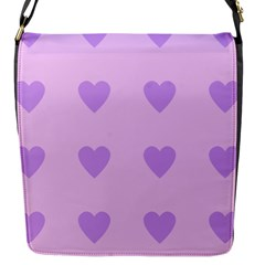 Violet Heart Flap Messenger Bag (s)