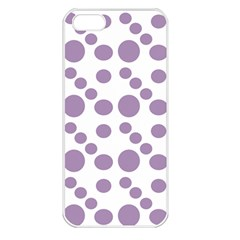Violet Dots Apple Iphone 5 Seamless Case (white)