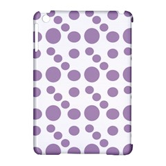 Violet Dots Apple Ipad Mini Hardshell Case (compatible With Smart Cover)