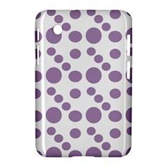 Violet Dots Samsung Galaxy Tab 2 (7 ) P3100 Hardshell Case