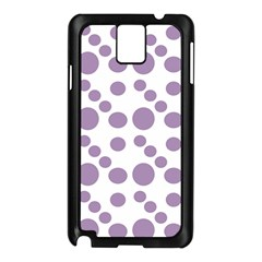 Violet Dots Samsung Galaxy Note 3 N9005 Case (black)