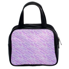 Silly Stripes Lilac Classic Handbags (2 Sides)