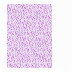 Silly Stripes Lilac Small Garden Flag (two Sides)
