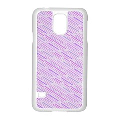 Silly Stripes Lilac Samsung Galaxy S5 Case (white)