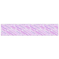 Silly Stripes Lilac Small Flano Scarf