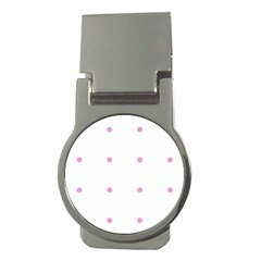 Pink Dots Money Clips (round)