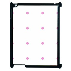 Pink Dots Apple Ipad 2 Case (black) by snowwhitegirl