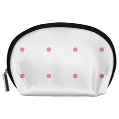 Pink Dots Accessory Pouches (large)