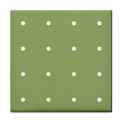 Olive Dots Tile Coasters