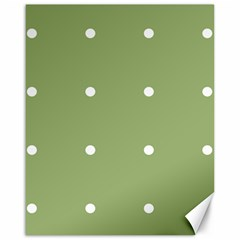 Olive Dots Canvas 16  X 20