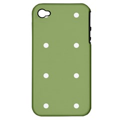 Olive Dots Apple Iphone 4/4s Hardshell Case (pc+silicone)