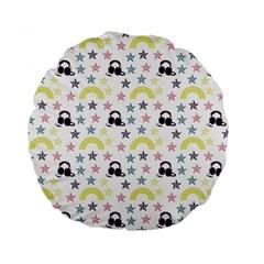 Music Stars Standard 15  Premium Flano Round Cushions