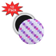 Geometric Squares 1 75  Magnets (10 Pack)