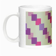 Geometric Squares Night Luminous Mugs by snowwhitegirl