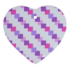 Geometric Squares Heart Ornament (two Sides)