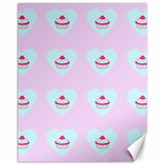 Pink Cupcake Canvas 11  X 14