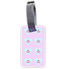 Pink Cupcake Luggage Tags (one Side)