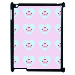 Pink Cupcake Apple Ipad 2 Case (black) by snowwhitegirl
