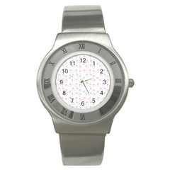 Pink Hats Stainless Steel Watch