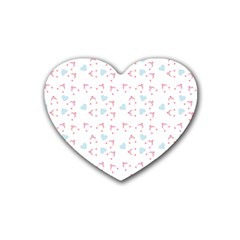Pink Hats Heart Coaster (4 Pack)