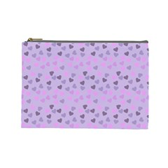 Heart Drops Violet Cosmetic Bag (large)