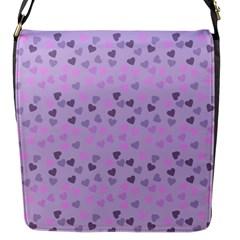 Heart Drops Violet Flap Messenger Bag (s)