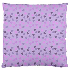 Heart Drops Violet Large Flano Cushion Case (two Sides) by snowwhitegirl