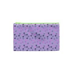 Heart Drops Violet Cosmetic Bag (xs)
