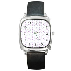 Blue Hats Square Metal Watch