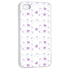 Blue Hats Apple Iphone 4/4s Seamless Case (white)