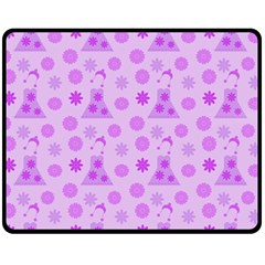 Purple Dress Fleece Blanket (medium)