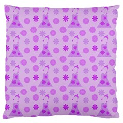Purple Dress Standard Flano Cushion Case (one Side)