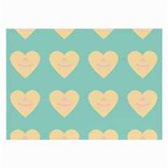 Teal Cupcakes Large Glasses Cloth