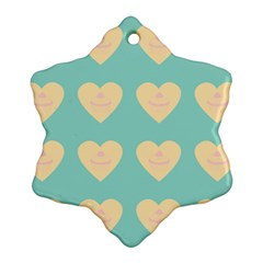 Teal Cupcakes Snowflake Ornament (two Sides)