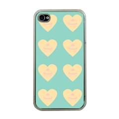 Teal Cupcakes Apple Iphone 4 Case (clear)
