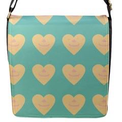 Teal Cupcakes Flap Messenger Bag (s) by snowwhitegirl