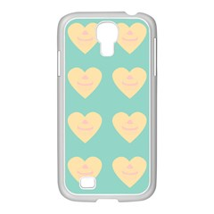 Teal Cupcakes Samsung Galaxy S4 I9500/ I9505 Case (white)