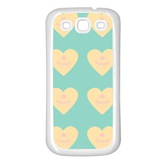 Teal Cupcakes Samsung Galaxy S3 Back Case (white)