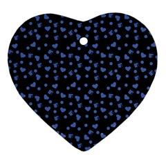 Blue Hearts Heart Ornament (two Sides) by snowwhitegirl