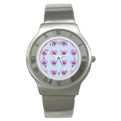 Blue Cupcake Stainless Steel Watch