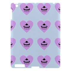 Blue Cupcake Apple Ipad 3/4 Hardshell Case