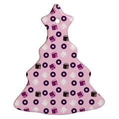 Pink Donuts Christmas Tree Ornament (two Sides)