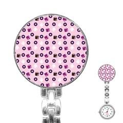 Pink Donuts Stainless Steel Nurses Watch