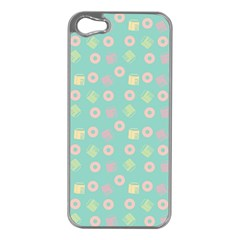 Teal Donuts And Milk Apple Iphone 5 Case (silver)