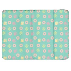 Teal Donuts And Milk Samsung Galaxy Tab 7  P1000 Flip Case