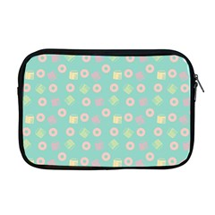 Teal Donuts And Milk Apple Macbook Pro 17  Zipper Case by snowwhitegirl