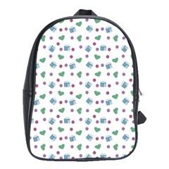 White Milk Hearts School Bag (xl)