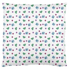 White Milk Hearts Standard Flano Cushion Case (one Side)