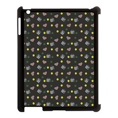 Dark Grey Milk Hearts Apple Ipad 3/4 Case (black)